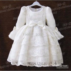 new Childrens long-sleeve girls dress flower skirt Performance dress cake dress 0608 Childrens Dresses Performance dress Kids Clothing