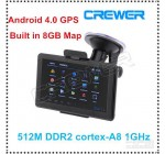 "GPS-навигатор 5"" на Android 4.0, 512 Mб DDR2, Сortex-A8 1 ГГц, Wifi, 8 …"