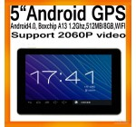 "GPS-навигатор 5"" на Android 4.0, WIFI, процессор Boxchips A13 1.2 ГГц, …"