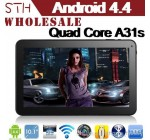 "10.1"" Android 4.2 Quad Core tablet PC 1280*800 Display Allwinner A31s Quad Core tablets with Bluetooth & Capacitive Touch Tablet PC"
