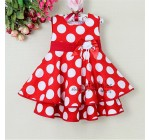 2013ChristmasToddlers Dress White And Red Dot With Flower Baby Girl Pr …