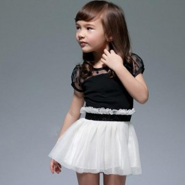 Free shipping! child one-piece summer princess dress child puff dress tulle girls dress summer clothes for girls kids dress baby girl dresses