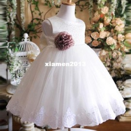 1 PC 2013 Retail Summer Girls Formal Dresses Flower Wedding Princess Clothing Children Kids Wear AA725 children designer dresses children formal dresses children plus size dresse