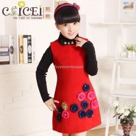 Christmas RCeicei2013 girls clothing princess dress woolen tank dress medium-large child a-line dress line dresses line wedding dress line prom dress