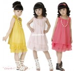 2013 new girls dress (2 colors 4sizes) one piece children's clothing p…