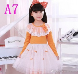 NEW Dresses) Children ages 3-13 skirt girl skirt one-piece dress A5-29 girl skirt girl skirt tutu