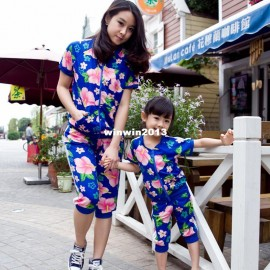 Family fashion summer 2013 clothes for mother and daughter clothes for mother and son flower sports set summer 14a02 clothes for a summer hote clothes for toddler girls clothes for thin girls