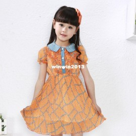 2013 children's clothing one-piece dress child princess female chiffon summer dress gentleman clothing cars clothing tools