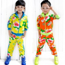 2013 autumn children's clothing male female child flower child long-sleeve cardigan trousers sports set sport set sports ball set sports bathroom sets