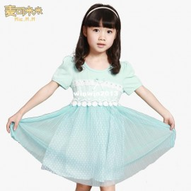 Children's clothing large female child summer one-piece dress 2013 lace one-piece dress princess dress dress up sexy ladies dress event dress shirt cuff links