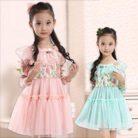 Fall 2013 Korean version of the new children's clothing for girls floral dress princess dress children's children a generation of fat Children Skirt Kids Children Skirt