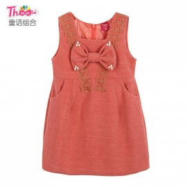 Guangdong children 's clothes brand woolen skirt 2013 new Korean children dress girls dress Q1060 Kids Children Skirt