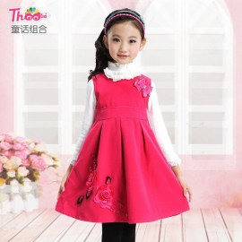 A generation of fat girls dress woolen skirt children autumn 2013 new Korean girls dress wholesale 1261 Kids Children Skirt