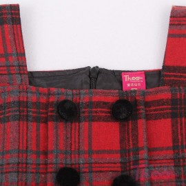 A generation of fat girls dress Autumn 2013 new European and American winter plaid woolen skirt children dress child 1327 Children Skirt Kids Children Skirt