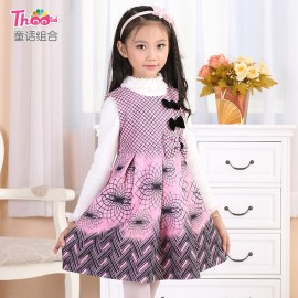 Free to join Kids girls dress wholesale 2013 new Korean girls woolen vest dress 1331 Kids Children Skirt