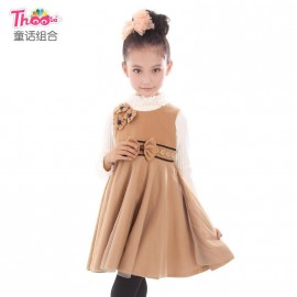 Fairy combination of brand new winter Korean youngster woolen skirt pleated dress 8025 free agent youngster Children Skirt Kids Children Skirt