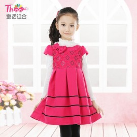 A generation of fat children winter woolen skirt skirt 2013 new round neck short sleeve dress for girls Spring models in Europe and America Children Skirt Kids Children Skirt