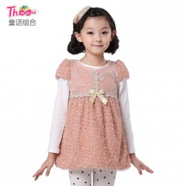 Fairy princess dress combination winter 2013 new Korean children's version of the children 's clothes dress skirt 1037 Kids Children Skirt