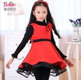 Guangdong quality children 's clothes autumn princess dress 2013 new Korean woolen skirt girls dress children G239 Kids Children Skirt