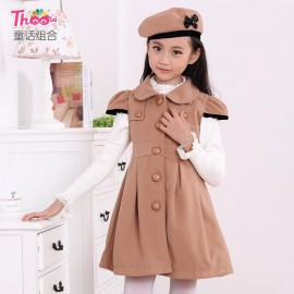 Kids Acting Kids princess dress 2013 short sleeve coat dress with hat in Europe and America 6615 special section Children Skirt Kids Children Skirt