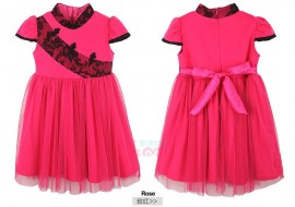 A generation of fat children dress winter 2013 new woolen veil new Chinese style short-sleeved dress girls 1339 Children Skirt Kids Children Skirt
