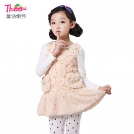 Autumn fairy combination of new girls vest dress 2013 Korean wild children sleeveless dress in 1040 Kids Children Skirt