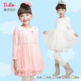 Winter fairy tale combination skirt 2013 new Korean boy child dress girls dress Q3002 handmade veil Children Skirt Kids Children Skirt