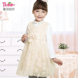 Children dress 2013 new winter models plus velvet skirt Korean children do not fall down vest skirt girls 16026 Children Skirt Kids Children Skirt