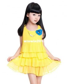 Children's clothing 2014 Summer New product Girls dress Dresses Cheap Dresses Children's clothing 2014