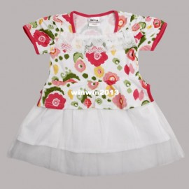 Free Shipping Nova fashion baby girls princess dress cotton dress with beautiful lace and butterfly embroidery H3969P# Dresses Cheap Dresses Free Shipping Nova fashio