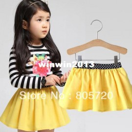 2014 spring solid color girls skirts kids clothing baby child all-match short skirt qz-1322 short skirt children Dresses Cheap Dresses China Dresses Suppliers