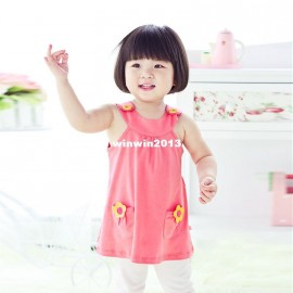 Winter Dress Casual New 2014 summer female child baby clothing sweet solid color small flower one-piece dress 80040 Dresses Cheap Dresses China Dresses Suppliers