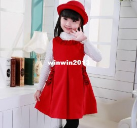 Winter children's clothing female child princess dress woolen dress tank thermal all-match children tank dress Dresses Cheap Dresses China Dresses Suppliers
