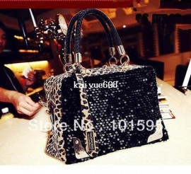 Cheap shoulder purse bag, Buy Quality shoulder bag tote bag directly from China shoulder carry bag Suppliers:Women's Fashion Sequins Bling Black Leopard Handbag Shoulder Bags Purse Clutch dropshipping free shipping &nb
