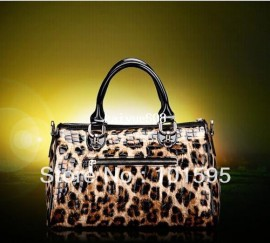Cheap women fashion bag, Buy Quality women bag directly from China women tote bag Suppliers:2013 New Fashion ladies Leopard Satin Print Tote Cheap Women Bags message Handbag Free shipping &