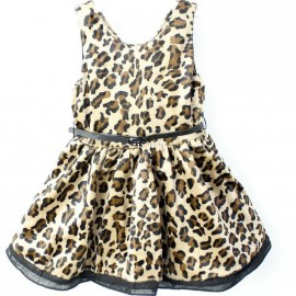 Baby Girls Leopard Cotton Dress Patchwork Belt Princess Dresses girls leopard dress Dresses Cheap Dresses Baby Girls Leopard Cotton