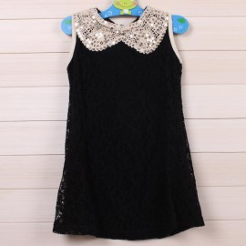 [ Horizon ] hot summer Tong Tong sequin vest dress girls ladies round neck lace dress kids clothing girl dress