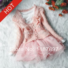 Sky.One New 2014 Spring New Fashion Girls Two-piece Girl Dress Summer Dress Baby Girl Clothes Girls Dresses Free Shipping aa77 Dresses Cheap Dresses Sky.One New 2014 Spring N