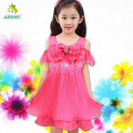 Children's clothing female child summer 2014 baby princess pleated one-piece child Dresses Cheap Dresses China Dresses Suppliers
