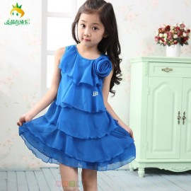 Children's clothing female child 2014 summer child clothes baby chiffon ruffle princess one-piece dress Dresses Cheap Dresses China Dresses Suppliers