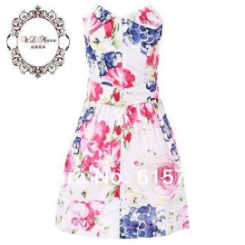 Top Quality 2014 summer new brand girl dress, luxury designer children dress, floral kids girls dress, children clothingfree shipping Dresses Cheap Dresses Top Quality 2014 summer n
