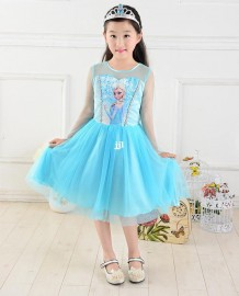 Summer Frozen Elsa  Anna 2014 New costume Princess TuTu Brand Girls Dresses Children Clothing Kids Wear, vestidos de menina Dresses Cheap Dresses Summer Frozen Elsa Anna