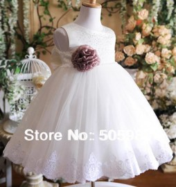 New seconds kill children clothes 2014 kids summer dress many layers ball gown white purple flower+big bow very cute free ship children dress clothes children dress up clothes child clothes