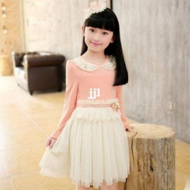 spring summer 2014 baby girl dress with tutu skirt children clothes long-sleeve dress child princess dress Dresses Cheap Dresses spring summer 2014 baby g