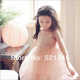 New arrival 2014 children's clothing female child gauze lace one-piece dress child princess dress puff tank dress Dresses Cheap Dresses China Dresses Suppliers