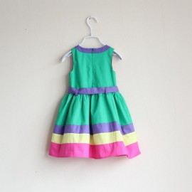 Hotsale 2014 Summer fashion Baby clothing brand kids girls button princess dress 2 colors children wear princess girl dress princess baby dresses princess dresses