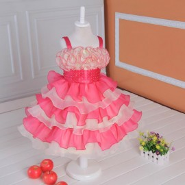 Retail 2014 Elegant dress , party baby girl princess clothing Tutu Layered children's Party Bow Kids Formal Dress free shipping Dresses Cheap Dresses Retail 2014 Elegant dress
