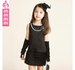 2014 autumn female child one-piece dress child princess dress children …