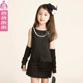 2014 autumn female child one-piece dress child princess dress children's clothing tank dress princess dress up dress formal dress dress shipping