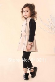 retails, high quality new 2014 clothes baby gilrs dresses fashion sleeveless formal dress baby gilrs dress spandex dress chain dress princess baby